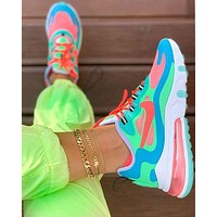 Nike AIR MAX 270 REACT Fashion New Hook Contrast Color Women Men Leisure Running Shoes