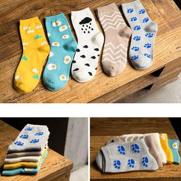 Women's Cotton Print Socks