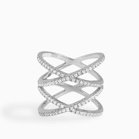 Double X Statement Ring