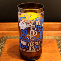 Natural Soy Beer Bottle Candle Stone Anniversary IPA
