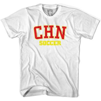 China PR CHN Soccer Country Code T-shirt-Adult