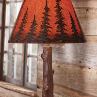 Sunset Pines Tree Trunk Lamp