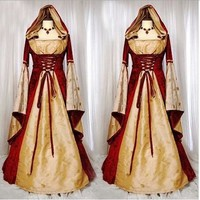 Halloween costumes for women snow white queen cosplay costume adult princess party dress for girls Medieval fancy dress