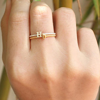Stacking Ring - Name Ring - Unique Ring - Twisted Ring - Personalized Jewelry