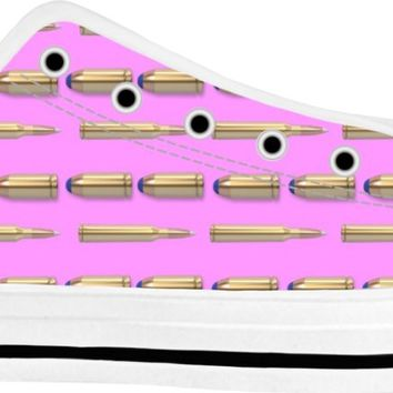 Bullets Shoes White/Pink Low Tops