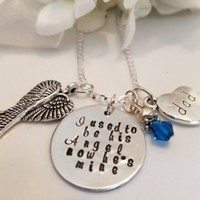 Sympathy Remembrance Memory Sterling Silver Necklace Bereavement Son Dad