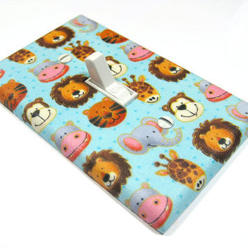 Noah's Ark Animals Light Switch Cover Children by ModernSwitch