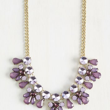 Glimmer is Coming Necklace in Purple | Mod Retro Vintage Necklaces | ModCloth.com