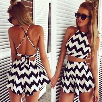 Black and white two piece