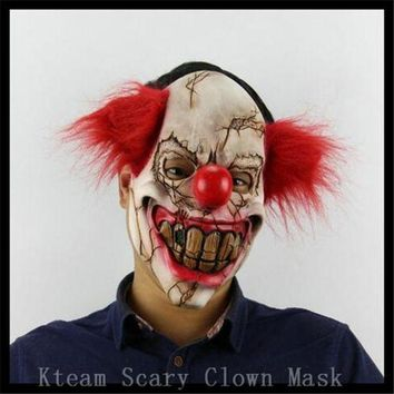 DCCKH6B Free Shipping!!! Funny Party Cosplay Evil Circus Clown Mask Pennywise Halloween Horror Party Fancy Dress Costume Accessory