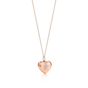 "Tiffany & Co. - ""I Love You"" heart locket"