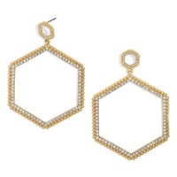 BaubleBar Hexagonal Hoop Earrings | Nordstrom