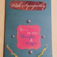 Sympathy Greeting Card, Your in My Thoughts, USA Made, #44