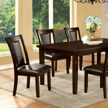 "Emmons I Transitional Dining Table With 18"" Leaf, Dark Cherry"