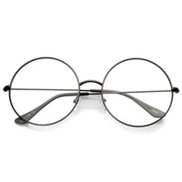 Modern Slim Round Clear Lens Dapper Glasses C143