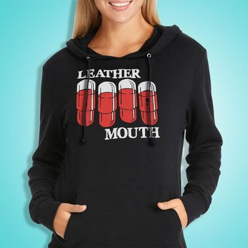 Leather Mouth Women'S Hoodie