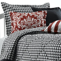 Black and White Houndstooth Bedding Set (Twin Only)