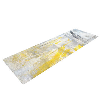 "CarolLynn Tice ""Abstraction"" Grey Yellow Yoga Mat"