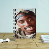 2Pac Tupac Shakur Photo Notebook Auroid