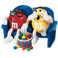 "M&m""s Candy Dispenser At the Movies in 3d Collectible"