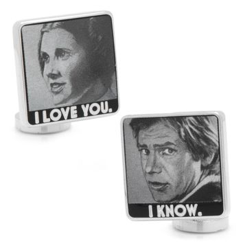 I Love You I Know Cufflinks BY STAR WARS