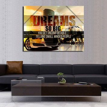 Dreams So Big Canvas Wall Art Motivational Quotes