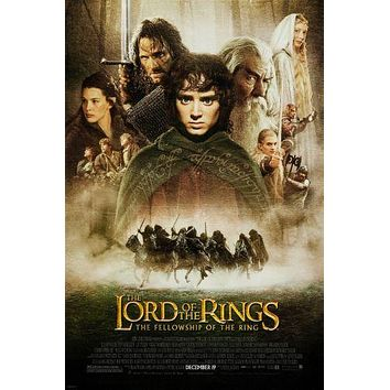 The Lotr Fellowship Movie Poster 24inx36in