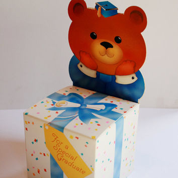 Graduation Bear Box Gift Boxs by AbateArts on Etsy