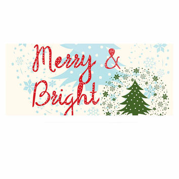 """Famenxt """"Merry And Bright"""" Holiday Typography Luxe Rectangle Panel"""