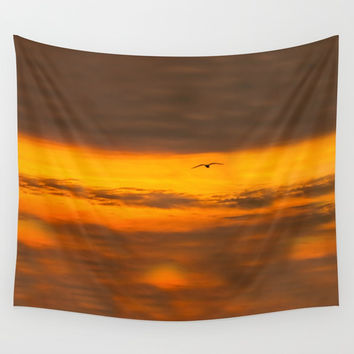 sunset Wall Tapestry by Anabprego