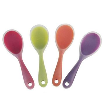 1pc Non Stick Rice Spoon Creative Silicone Spoon Sushi Scoop Household Kitchen Accessories Cooking Tools Kitchenware