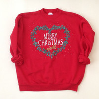 Christmas Sweater - Ugly Christmas Sweater - Red Sweatshirt - Quirky Gift - Funny Gift