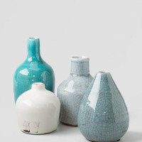 Blue Mini Vases Set Of 4