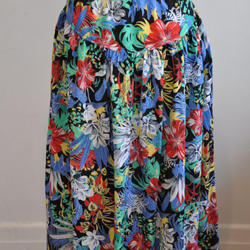 Mint Condition Brilliant 1980's Tropical Toucan Skirt