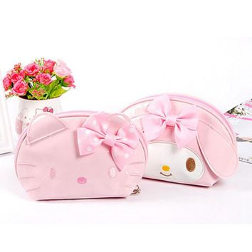 Women Travel Portable Cosmetic Bag Cute Cartoon Hello Kitty Function Beauty Zipper Make Up Toiletry Pouch Makeup Case Wash Kits