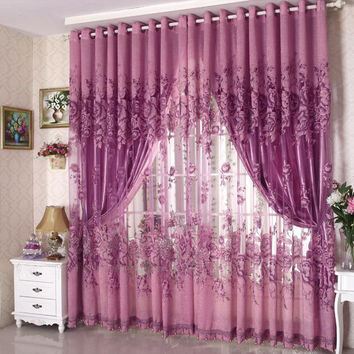 200*270cm Modern Fashion High Quality Window Screening Curtain Finished Product Window Curtains Without Blackout Lining Curtain