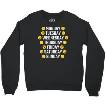 Moods Of The Week Daily Emoji Crewneck Sweatshirt