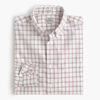 J.Crew Mens Secret Wash Shirt In Double Windowpane