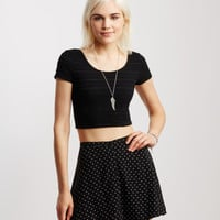 Star Buttoned Skirt - Aeropostale