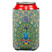 Mandala Trippy Stained Glass Peacock All Over Can Cooler