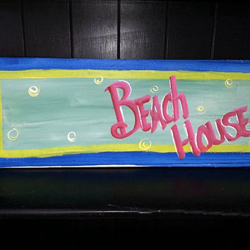 Personalized Beach House Sign custom hand painted