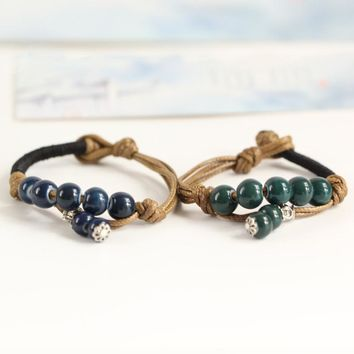 Shiny Awesome Gift Great Deal Stylish New Arrival Hot Sale Pottery Accessory Handcrafts Vintage Men Bracelet [10417789140]