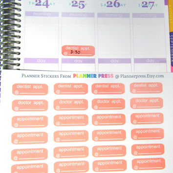 Pink Dentist, Doctor & Blank Appointment Planner Sticker for Erin Condren Life Planner (ECLP) Reminder Sticker Track Fuel Cost