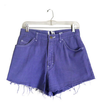 Purple Shorts High Waste Shorts Cutoff Jean Shorts High Wasted Shorts Highwaisted Shorts High Waisted Shorts Frayed Shorts Denim Cutoffs 90s