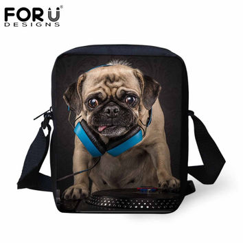 Hot 2016 NEW Men Messenger Bags Casual Small Men's Travel Bag Funny Rock Band Dog Bulldog Fashion Outdoor Crossbody Bag for Men