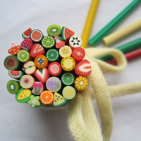 50 PCS Different Fruits Pattern Fimo Canes Nail Art Decorations