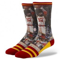Stance Socks with NBA Legend Hakeem Olajuwon of the Houston Rockets M320A13HAK