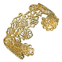 Matterial Fix Gold And CZ Henna Statement Cuff