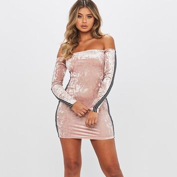Strapless Long Sleeve One Piece Dress [96254230543]