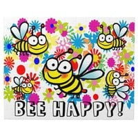 cute colorful spring summer cartoon bees jigsaw puzzle